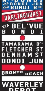 Bronte Tram Scroll Sign Art|Bronte Tram Roll Reproduction