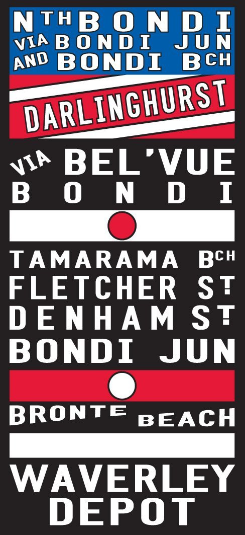 Bronte Tram Scroll Sign Art Bronte Tram Roll Reproduction