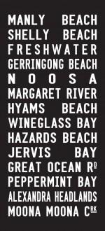 Manly Beach tram scroll