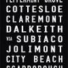 Fremantle to Trigg via Dalkeith Tram Destination Roll Word Art|Fremantle - Full Line