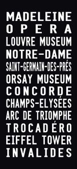 Madeleine destination canvas print, paris subway sign art