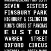 WALTHAMSTOW bus scroll, destination canvas print