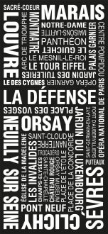 Paris Modern bus sign art, personalized subway art