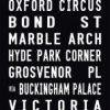 Covent Garden tram scroll, bus roll canvas prints