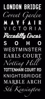 London custom scrolls, bus scrolls, destination art canvas prints