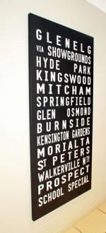 bus destination signs, tram scroll