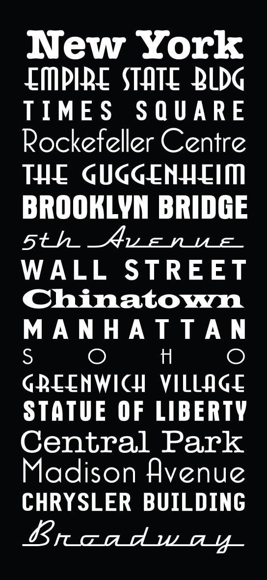New York Multi Font style