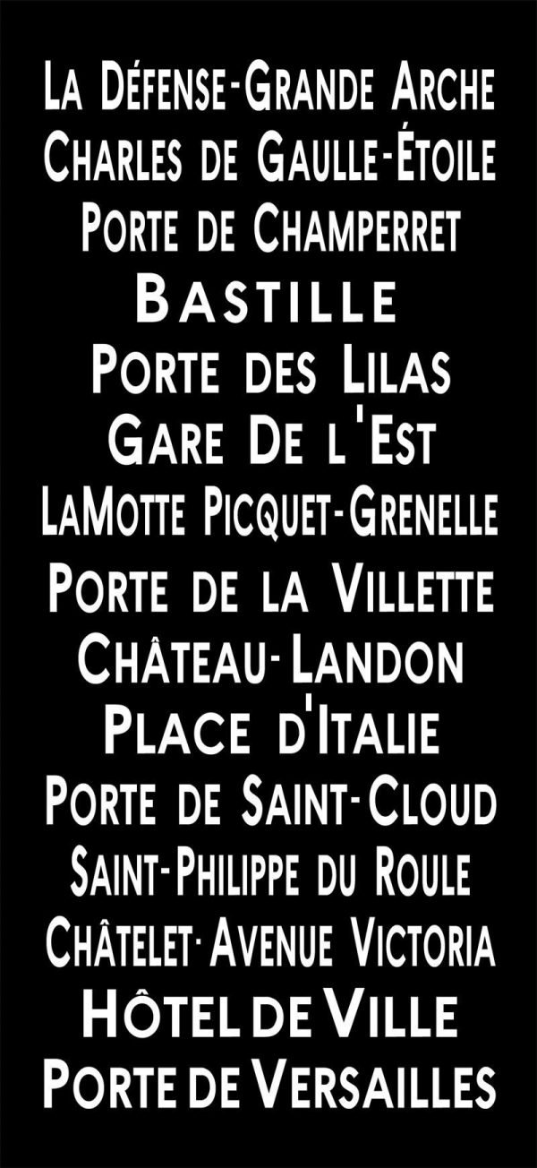 Bastille Paris Bus Destination Banner Wall Canvas Print|Bastille - Centred style