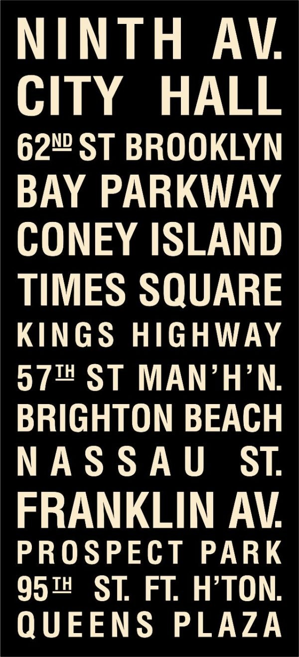 Coney Island Bus Scroll Cream