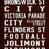 Vintage Reproduction Melbourne Fitzroy via Flinders Street Sign Art|Fitzroy Full-Line Antique effects 1