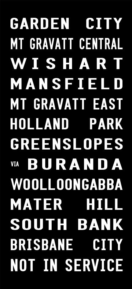 Garden City to Brisbane City via Mt Gravatt East Tram Banner Canvas Print|Garden City - Full Line