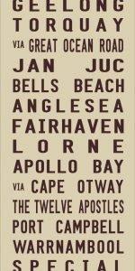 Great Ocean Road Vintage Tram Banner|Geelong - Full Line - beige