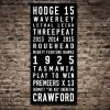 Hawthorn Hawks Tram Scroll AFL Sports Canvas Pictures Australia