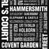 London Vintage Word Art|London Modernista Design