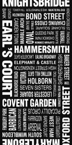 London Vintage Word Art London Modernista Design