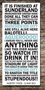 Manchester City Quote Canvas Art Print|||||||||||||