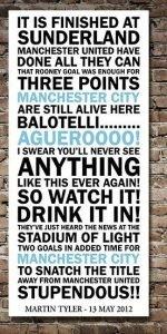 Manchester City Quote Canvas Art Print|||||||||||||