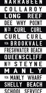 Narrabeen to Shelly Beach via Curl Curl Striped Tram Scroll Canvas Wall Art|Narrabeen to Shelly Beach via Curl Curl Striped Tram Scroll Canvas Wall Art