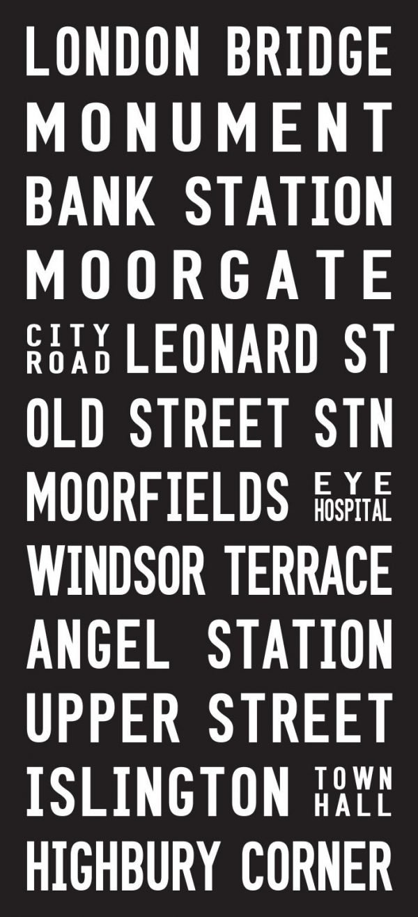 No. 43 London Bridge Bus Bus Sign Destination Canvas Print