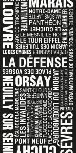 Paris Word Art Framed Print Online|Paris Modernista Design