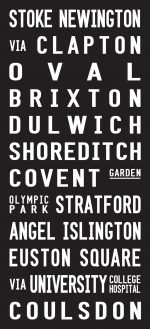 Stoke Newington to Coulsdon Sign Destination Canvas Print