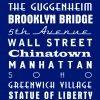 New York Royal Blue Bus Scroll|New York Navy Blue Bus Scroll