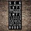 Sydney Swans Scroll Sports Word Art|West Coast Eagles AFL Team Tram Scroll Canvas Print|Western Bulldogs AFL Art Tram Scroll
