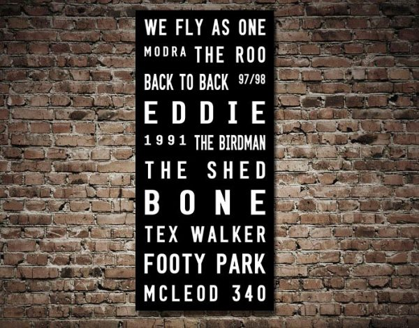 Adelaide Crows Tram Scroll AFL Footy Canvas Art