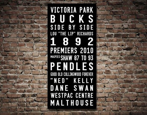 Collingwood Magpies Tram Scroll Canvas print