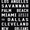 US Cities Flight Destination Art Sign Scroll|US Cities Scroll - Full Line