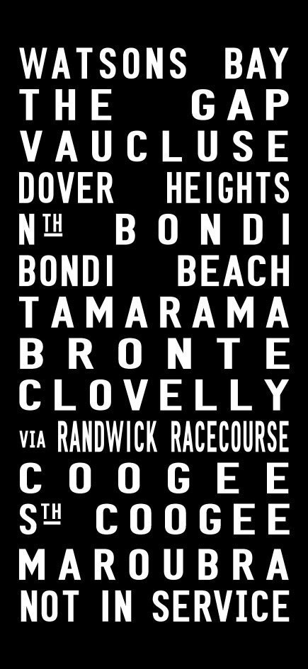 Glenelg to Prospect Tram Scroll Artwork|Garden City to Brisbane City via Mt Gravatt East Tram Banner Canvas Print|Coloured Vintage Tram Scroll Fremantle to North Beach via Subiaco|East Brisbane to Bacton Street Vintage Tram Scroll Word Art|Ninety Mile Beach-Contemporary