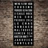 West Coast Eagles AFL Team Tram Scroll Canvas Print