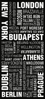 World Cities Modern Tram Scroll Word Art|World Cities Modern Tram Scroll Word Art|World Cities Modern